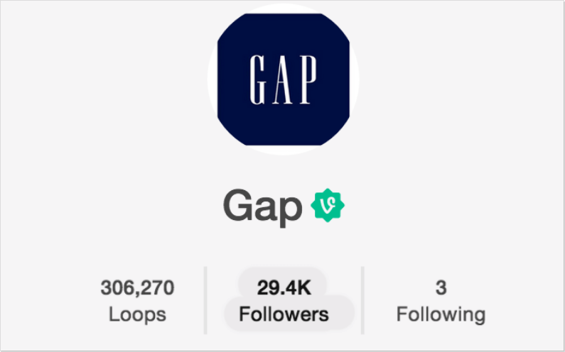 Gap on Vine