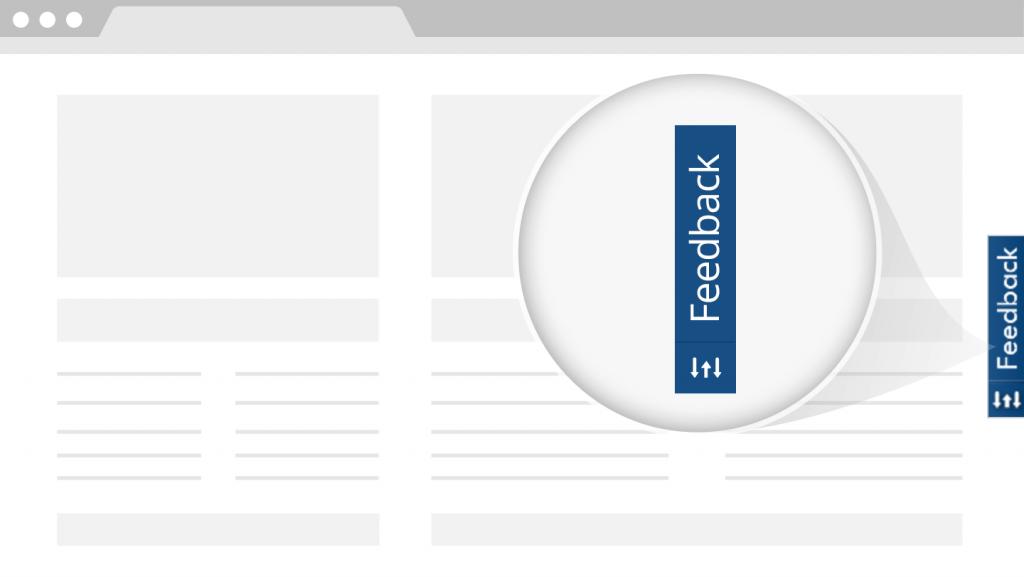 Customer feedback widget