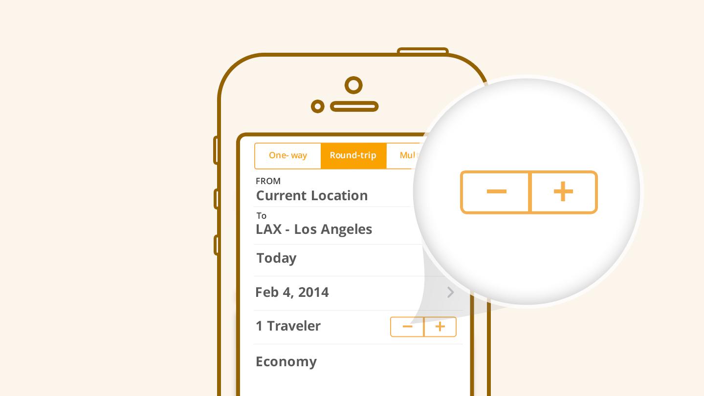 Stepper controls in app