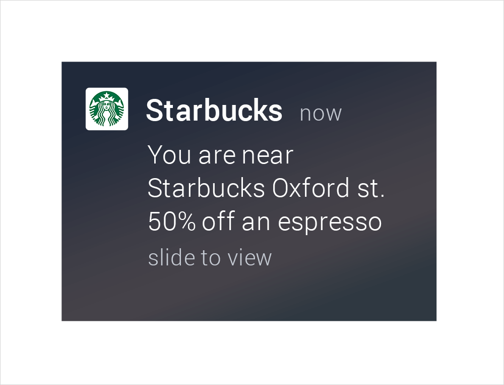 Geofencing by Starbucks