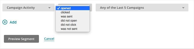 email list segmentation based on email status