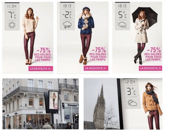 weather based triggers for fashion industry