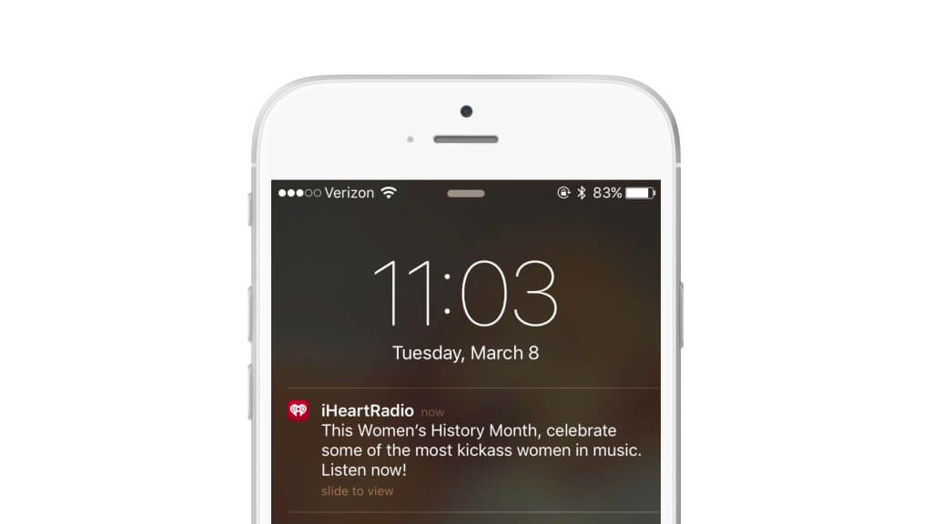 iheartradio invoking mystery in its push notification