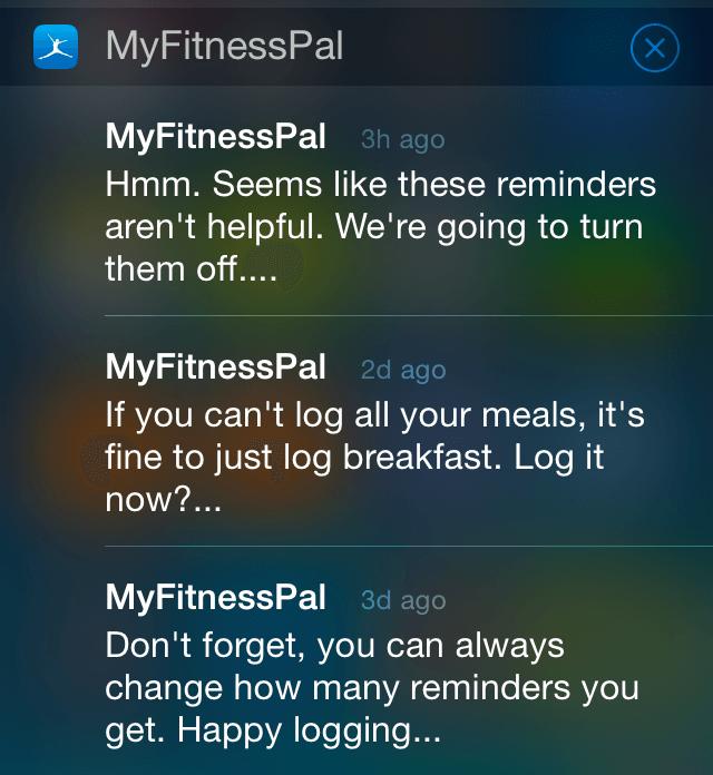 Behaviorally targeted push notification