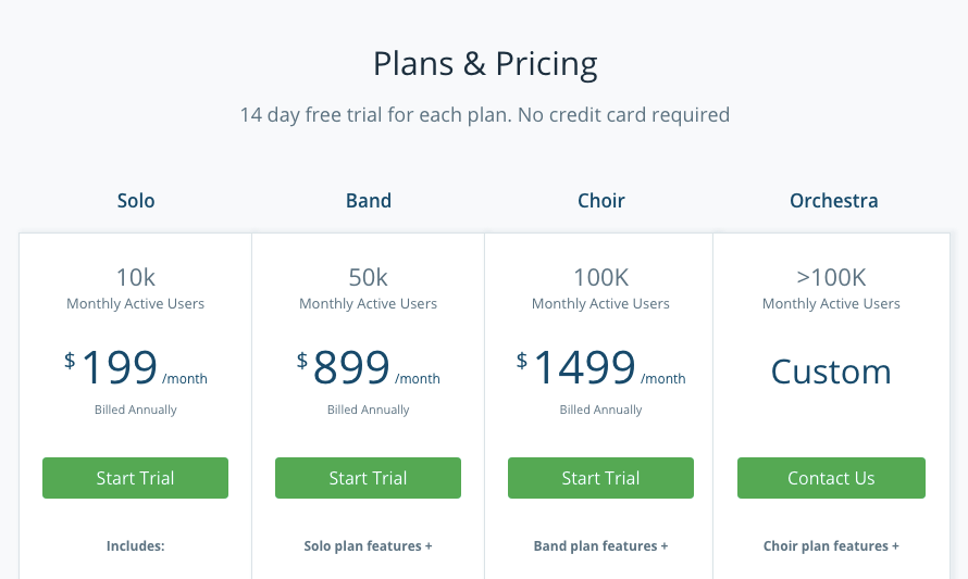 WebEngage pricing