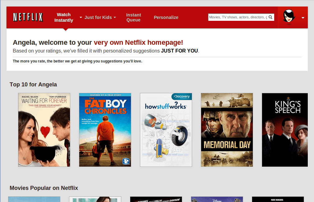 netflix personalized email