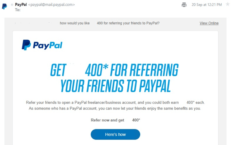 paypal - offer